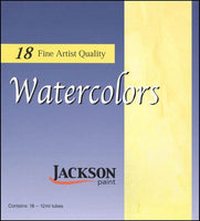 Jackson Paint - 18 Professional Watercolors