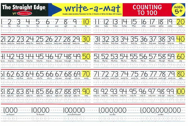 Write-A-Mat: Counting to 100
