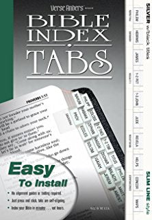 Bible Index Tabs (Silver with Black Titles)