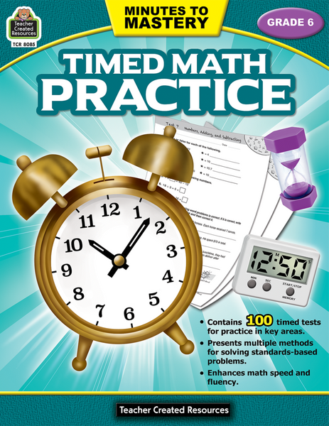 Minutes to Mastery: Timed Math Practice - Grade 6