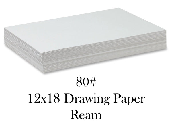80# 12x18 Drawing Paper Ream