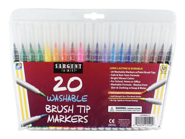 20 Ct Classic Brush Tip Markers