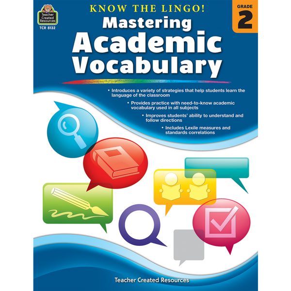 Know the Lingo! Mastering Academic Vocabulary (Grade 2)