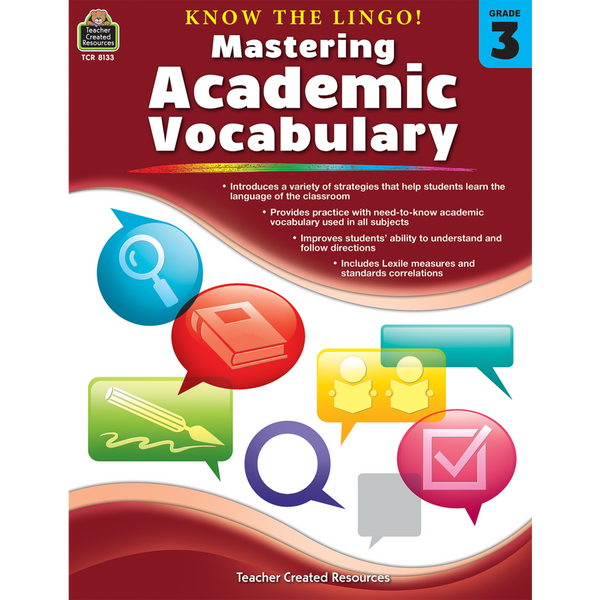 Know the Lingo! Mastering Academic Vocabulary (Grade 3)