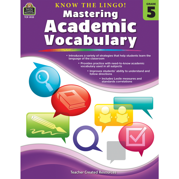 Know the Lingo! Mastering Academic Vocabulary (Grade 5)