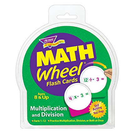 Math Wheel Flash Cards Multiplication and Division