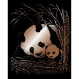 Engraving Art - Panda & Baby (Copper)