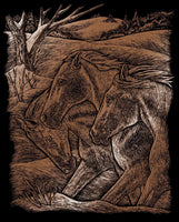Engraving Art - Horse Trio (Copper)