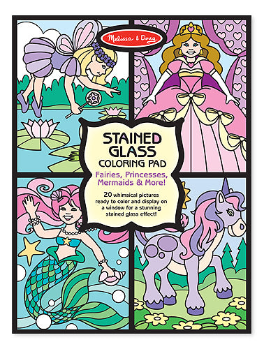 Fairies Stained Glass Coloring Pad
