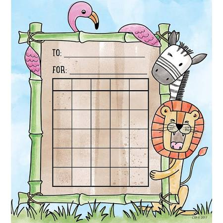 Safari Friends Student Incentive Chart