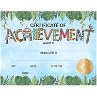 Safari Friends Certificate of Achievment