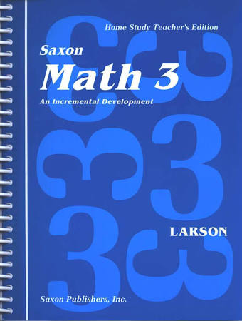 Saxon Math 3: Homeschool Teachers Edition
