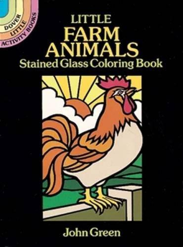 Little Farm Animals Stained Glass Coloring Book