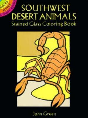 Southwest Desert Animals Stained Glass Coloring Book