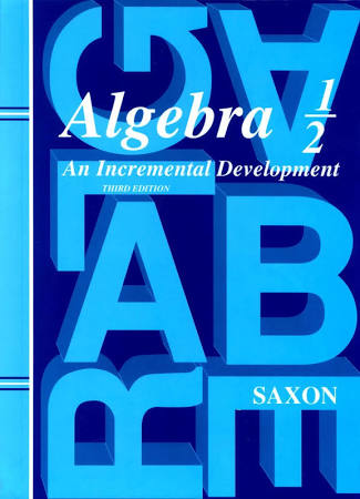 Saxon Algebra 1/2 Homeschool Kit, 3rd Edition