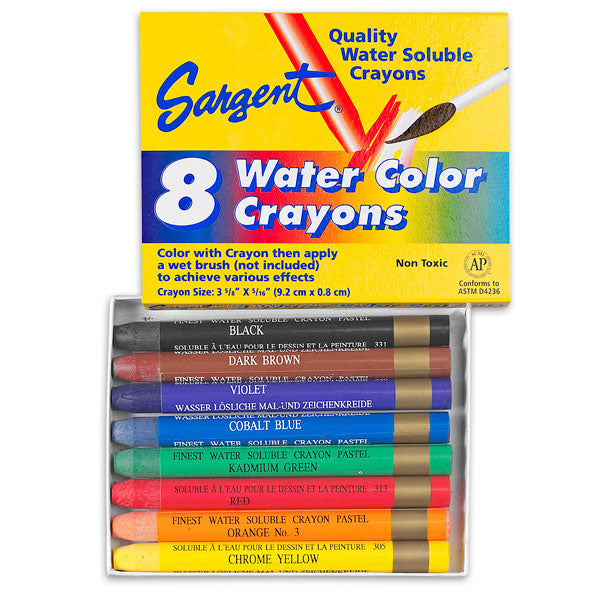 Sargent Art - 8 Watercolor Crayons