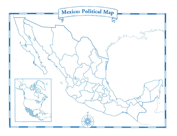Mexico Map Pad