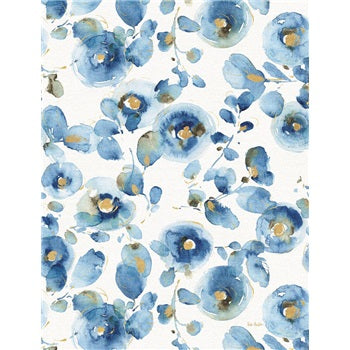 Medium Notebook Blue Flowers