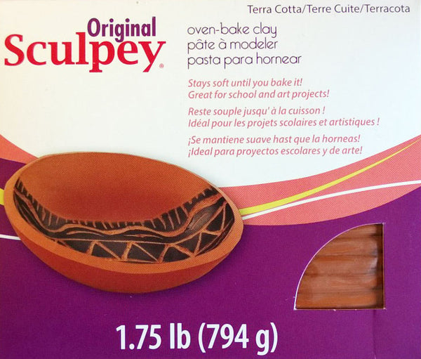 1.75lb Terra Cotta Sculpey Clay
