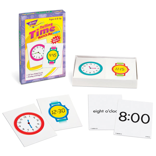 Telling Time Match Me Cards