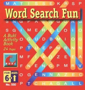 Small Buki Activity Books-Word Search Fun
