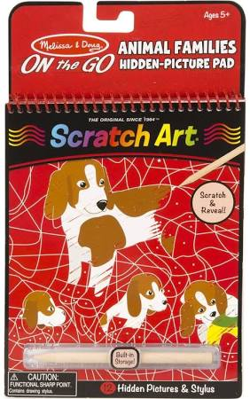 Scratch Art On The Go Animal Families