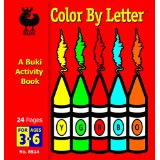 Small Buki Activity Books-Color by Letter