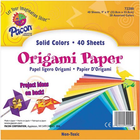 40ct Origami Paper in Assorted Colors