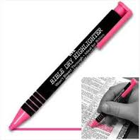 Dry Accent Bible Highlighter-Pink