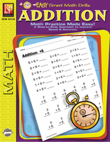 Easy Timed Math Drills: Addition