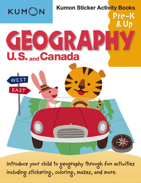 Sticker Activity Books: Geography US & Canada