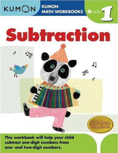 Math Workbooks: Subtraction Gade 1