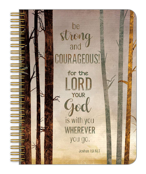 Medium Notebook-Be Strong and Courageous