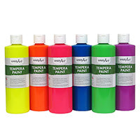 Fluorescent 8oz Washable Tempera Paints