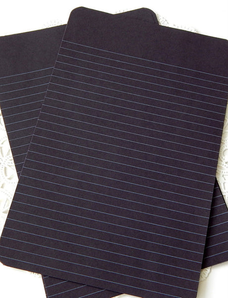 Loose Leaf Gel Paper (blue,black & purple)