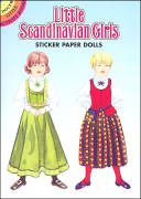 Little Scandanavian Girls Sticker Paper Doll