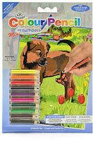 Mini Colour Pencil by Numbers - Puppy & Butterfly