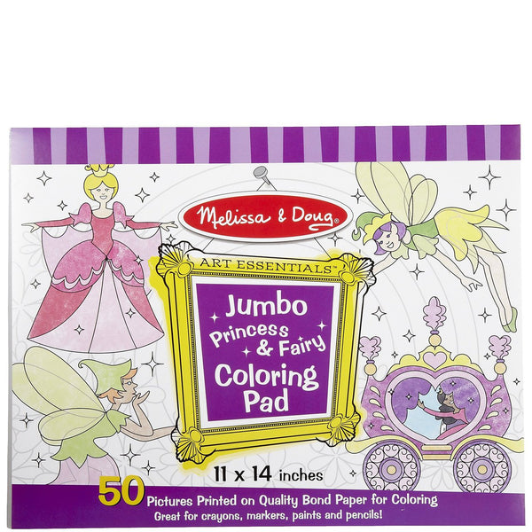 Jumbo Coloring Pad - Purple (Princess & Fairy)