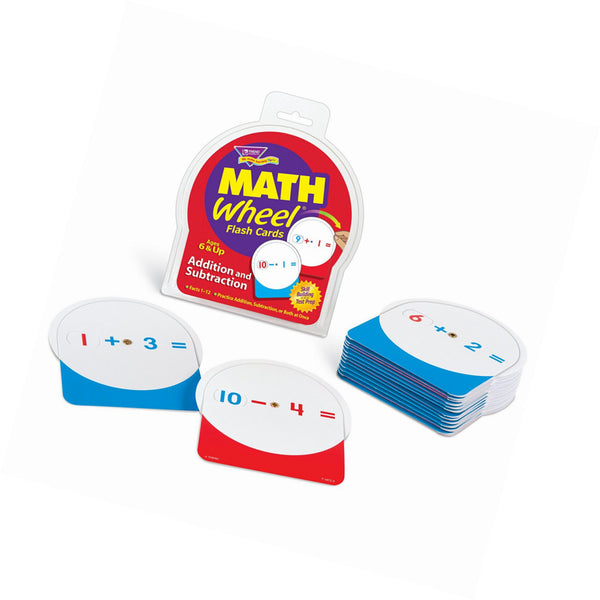 Math Wheel Flash Cards Addition and Subtraction