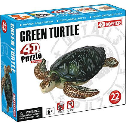 4D Puzzle Green Turtle