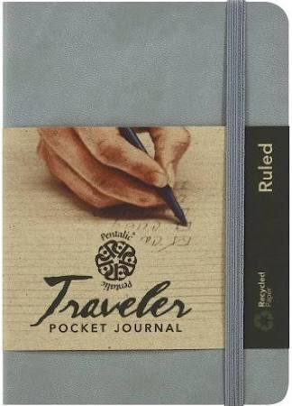 4x6 Ruled Pentalic Journal-Gray