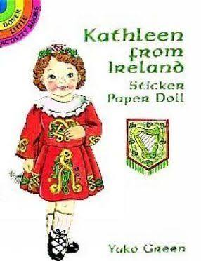 Kathleen from Ireland Sticker Paper Doll