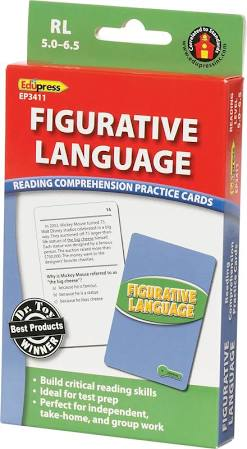 Reading Comprehension Practice Cards: Figurative Language Green