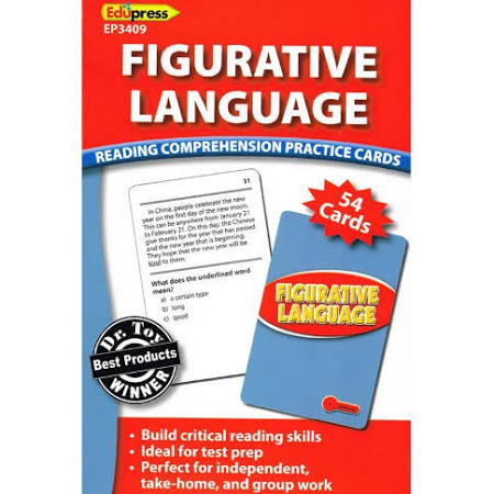 Reading Comprehension Practice Cards: Figurative Language Red