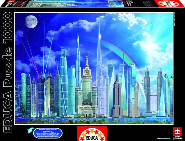 Tall Buildings 1000 Piece Puzzles