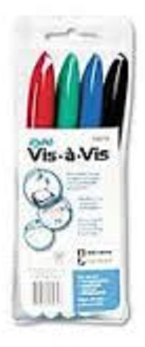 Vis-A-Vis Wet Erase Markers - 4 Color Set