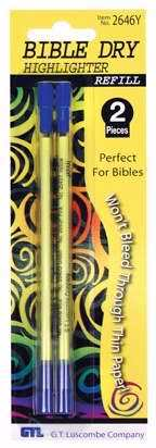 Dry Accent Bible Highlighter Refills-Yellow