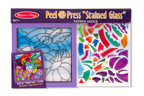 Press & Peel Stained Glass - Rainbow Garden