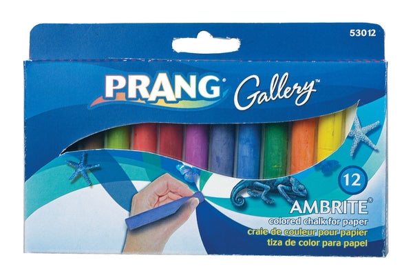 Ambrite Colored Chalk - Pack of 12