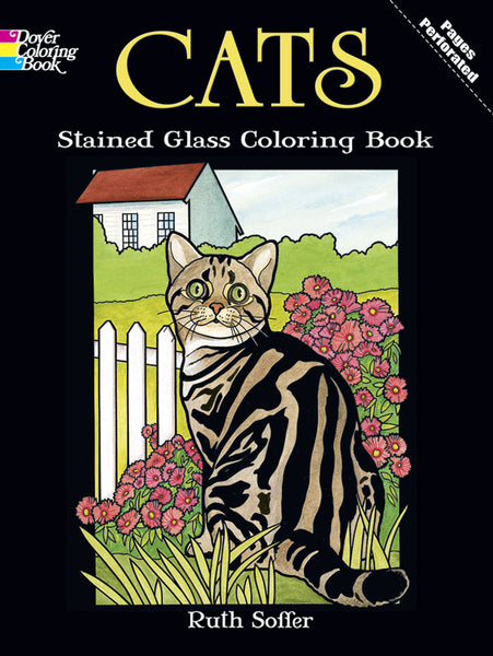 Cats Stained Glass Coloring Book